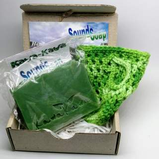 Giftbox + soap saver bag, colour of your choice