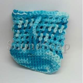 Soap Saver Bags - blue-white